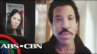 Lionel Richie, duet with Ginger Conejero