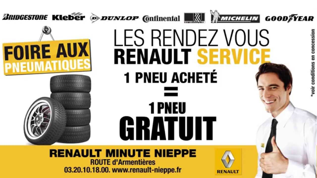 renault nieppe foire aux pneus 1 achet 1 gratuit youtube. Black Bedroom Furniture Sets. Home Design Ideas