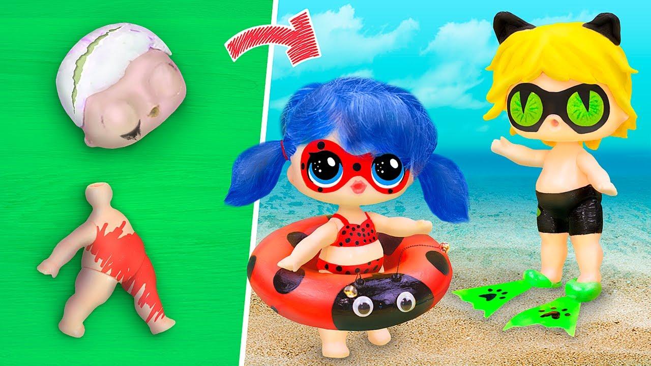 Nunca é Tarde Demais para Bonecas! 15 DIYs Ladybug para LOL Surpresa