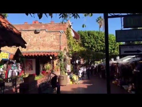 Olvera Street and Avila Adobe