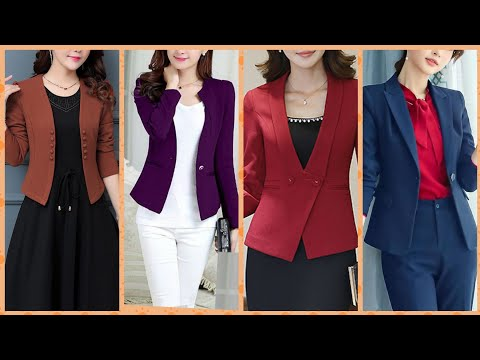 Stylish Trendy A Line Dress With Jacket Business Meetings Dress Designs