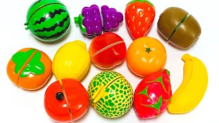 Learn names of fruits with toy velcro cutting fruits   Preschool Learning   Happy Toys