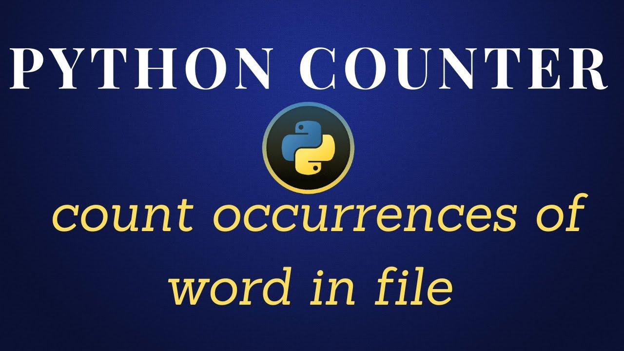 Python Counter Tutorial