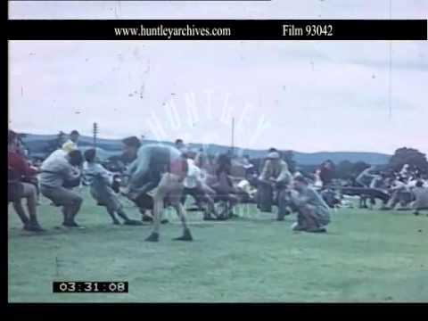 Amateur sports in Scotland, 1960's.  Archive film 93042