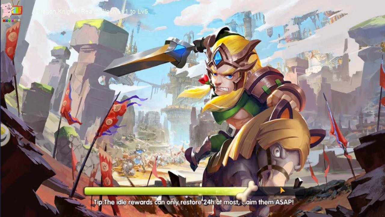 Dragon Knight  Realm Clash Gamechplay  LV1 TO LV5 - Heo Kids
