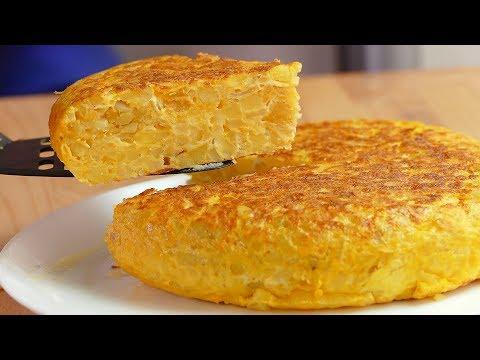 Tortilla de patatas light. Con casi la MITAD de calorías!!