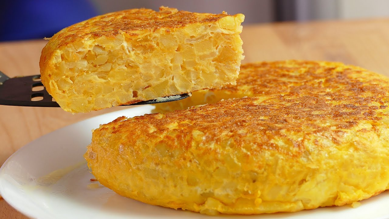 Receta de tortilla de vegetales light
