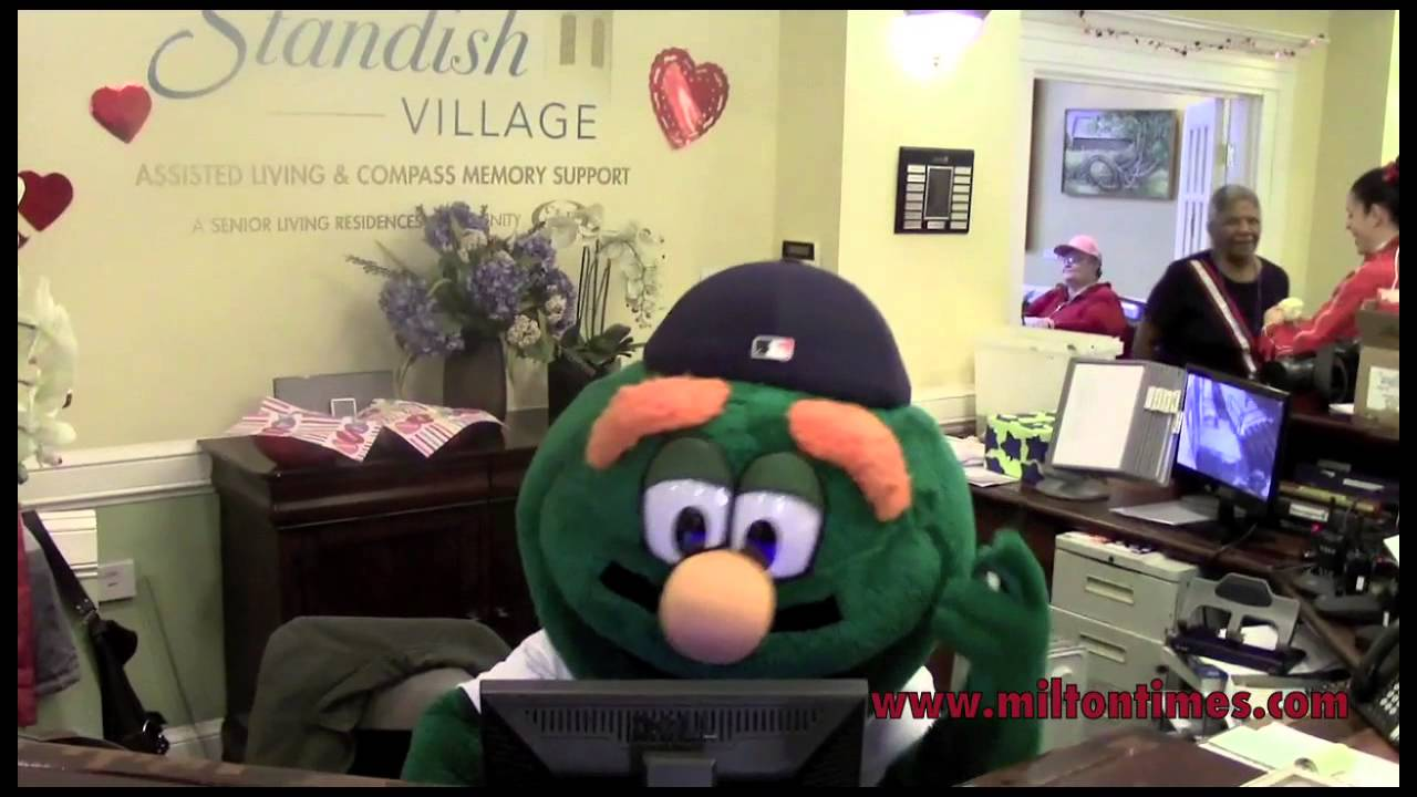 Wally The Green Monster Falls Asleep On The Job At Standish Village