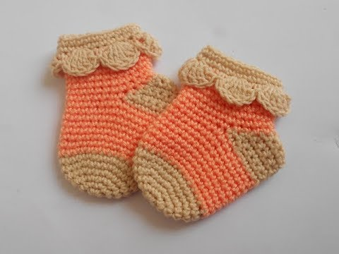 Crochet Crosia Tutorial Crochet Baby Socks Youtube