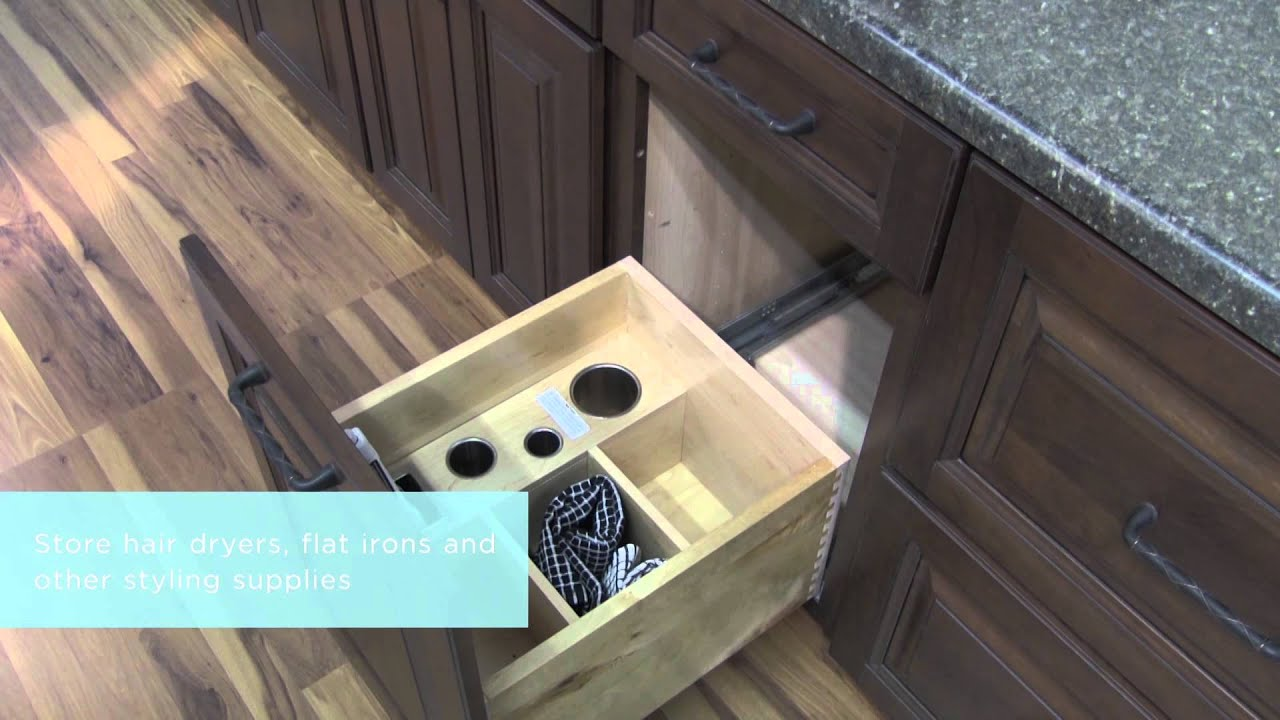 Medallion Cabinetry: Salon Styling Center, Bathroom Storage Part 15    YouTube