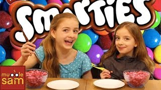 SMARTIES CANDY CHALLENGE | 12-Year-Old Sophia & 10-Year-Old Bella Mugglesam Kids