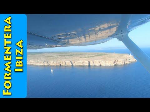 Flying around the coast of Formentera (Ibiza)