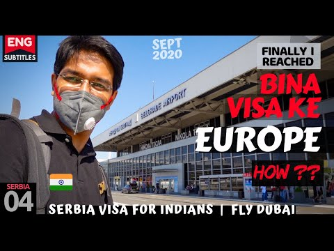 SERBIA for Indians - How to clear immigration   FLY DUBAI - Dubai to Belgrade (ENG SUBTITLES)
