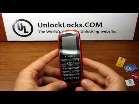 How To Unlock ALCATEL OT-303 from any mobile network operator.
