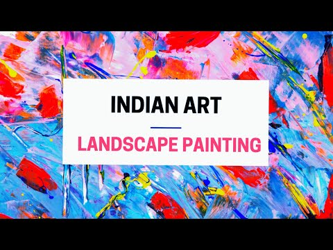 landscape Painting| Acrylic Landscape | Landscape painting for beginners by INDIAN ART