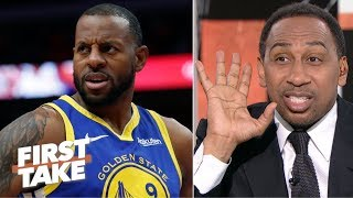 Somebodys lying!' – Stephen A. reacts to Iguodala's Warriors comments | First Take