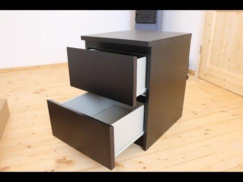 IKEA MALM Nachttisch Aufbau - Zeitraffer - von GewusstWie - YouTube