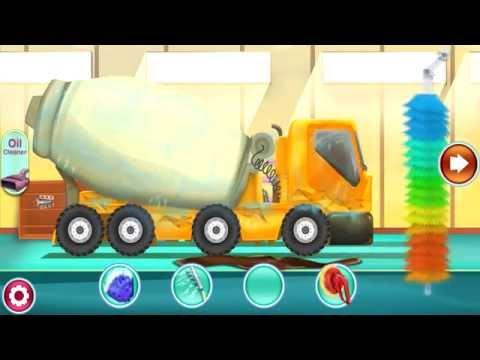เกมส์ ล้างรถ รถบรรทุก รถปูน truck วิดีโอสำหรับเด็ก