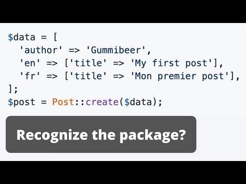 Multi-Language Laravel: Part 3 - Packages for DB Models
