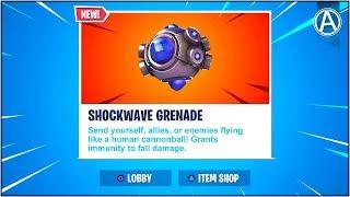 "NEW ""SHOCKWAVE GRENADE"" Gameplay UPDATE! (Fortnite Battle Royale ""Weapon UPDATE"")"