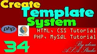 create template system 34 left navigation table and css button php mysql css tutorial series