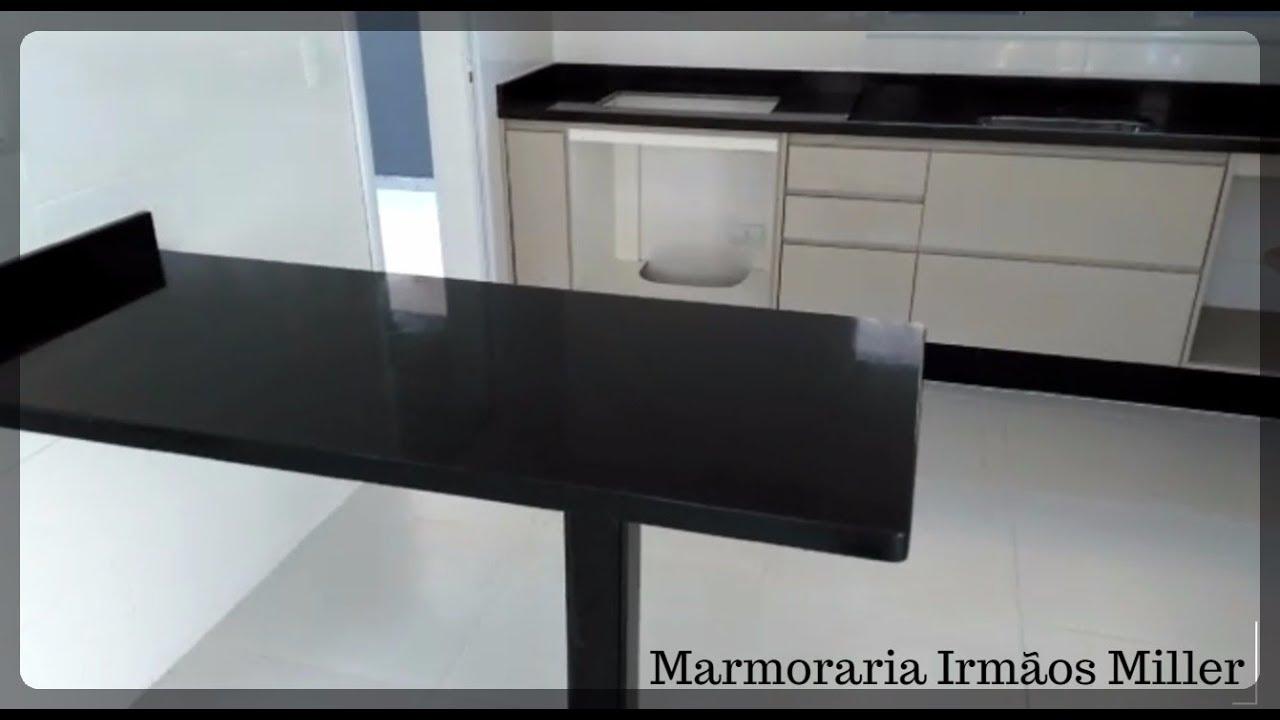 Pia e mesa granito preto s o gabriel marmoraria irm os miller canal youtube - Mesa de granito ...