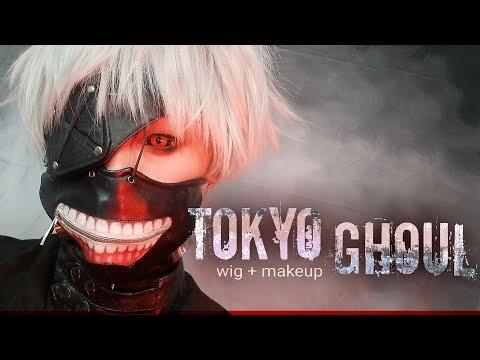 WATCH ME TRANSFORM | TOKYO GHOUL - How I cut my cosplay wig + Makeup Tutorial + vlog Halloween 2017