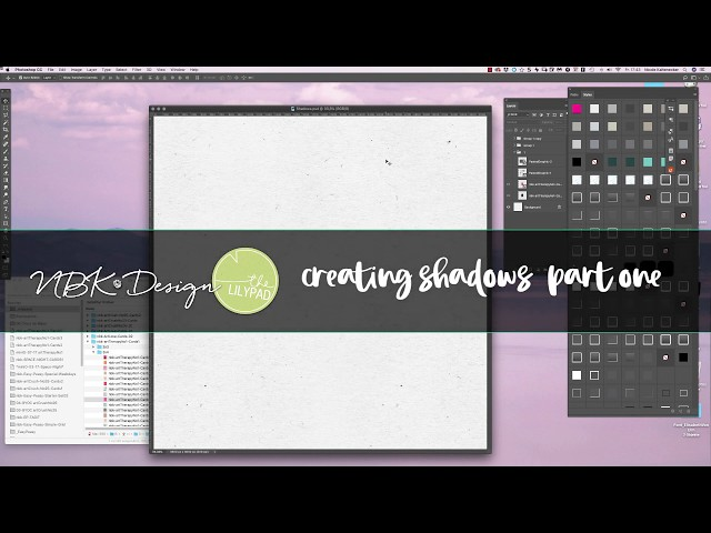 4 different ways to add Shadows on your Scrapbooking Elements PART ONE