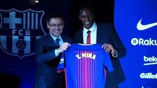 Le défenseur colombien Yerry Mina signe au FC Barcelone