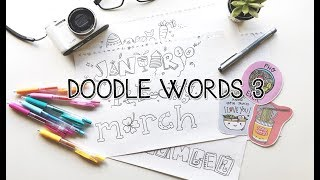 Doodle Words : Months of the Year (How to turn words into Doodles )   Doodle with Me