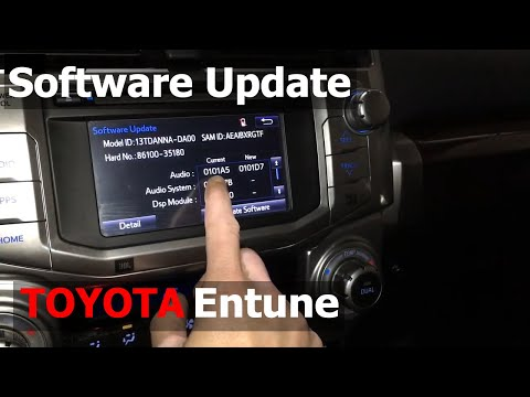 How To Update Toyota Entune Audio System Software - Toyota 4Runner Radio Firmware Update