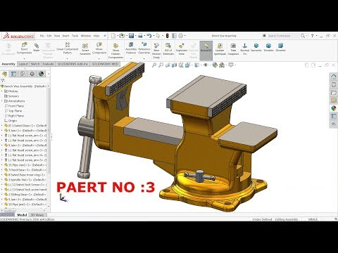 how to make a worm gear in solidworks