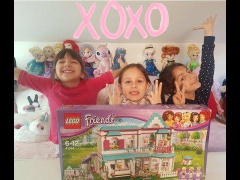 lego friends unboxing 41314 la maison de stephanie en francais youtube. Black Bedroom Furniture Sets. Home Design Ideas