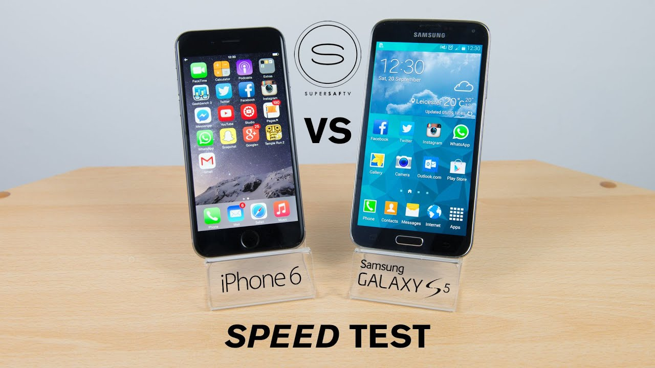speed test iphone iphone 6 vs samsung galaxy s5 speed test 13018