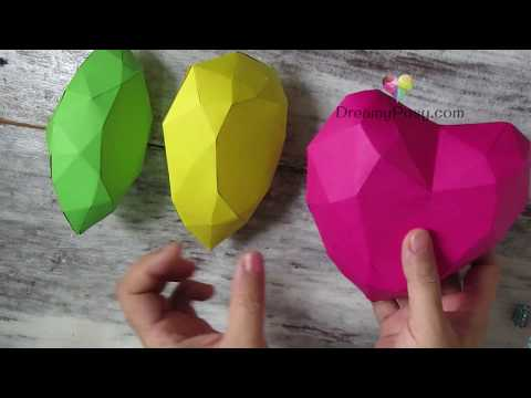 How to make paper gems collection, FREE templates, simple way