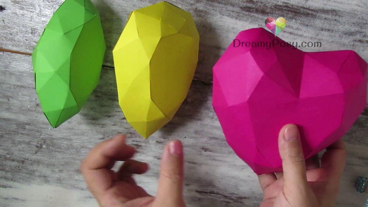 how to make paper gems collection free templates simple way youtube