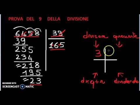 Prova Del 9 Della Divisione Youtube
