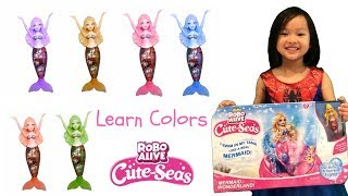 💛 Learn Colors With Mermaid 💜 Swimming Mermaid Dolls Robo Alive Cute Seas