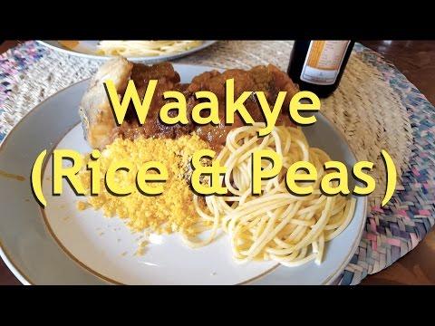 Waakye (Rice & Peas) & Stew Ghana Style