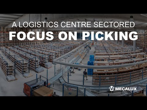 A logistics centre sectored in different areas