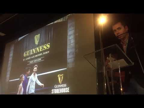 Conor George, Guinness Storehouse announcers #TBEXIreland winners - Unravel Travel TV