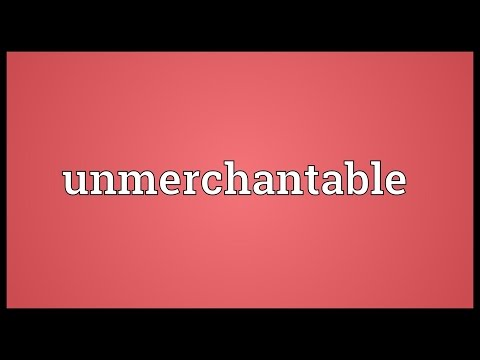 Header of unmerchantable