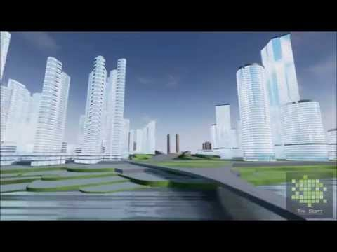 Office buildings architectural visualization