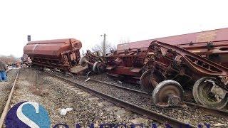 Tren deraiat între Dej și Jibou. Zece vagoane au sărit de pe șine