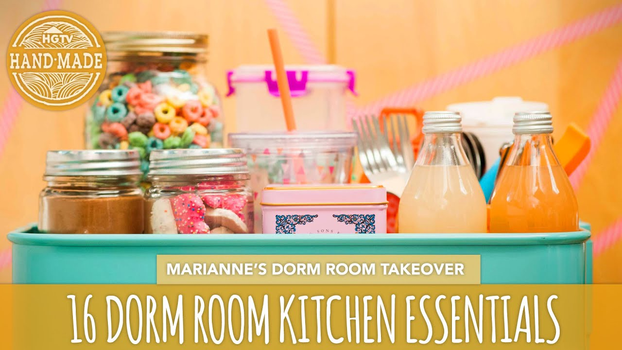 16 Back To School Dorm Room Kitchen Essentials   HGTV Handmade Dorm Room  Takeover   YouTube Part 57