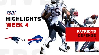 Patriots Defense SHREDS Buffalo w/ 5 Sacks, 4 INTs | NFL 2019 Highlights