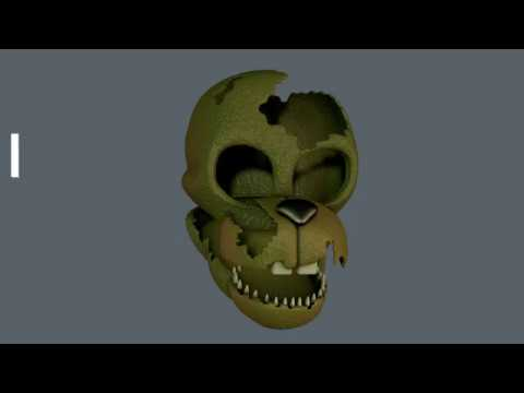 FNAF 6 Salvaged Springtrap Mask Speed Modelling C4D