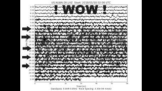 1/18/18 Long Period Tremor Returns: Yellowstone NOT the Epicenter