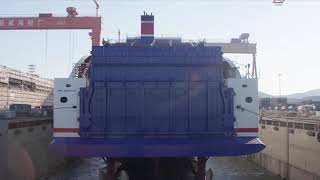 Ny generation af Stena Line færger sat i vandet i Kina
