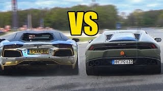 Lamborghini Aventador vs Huracan - SOUND BATTLE!